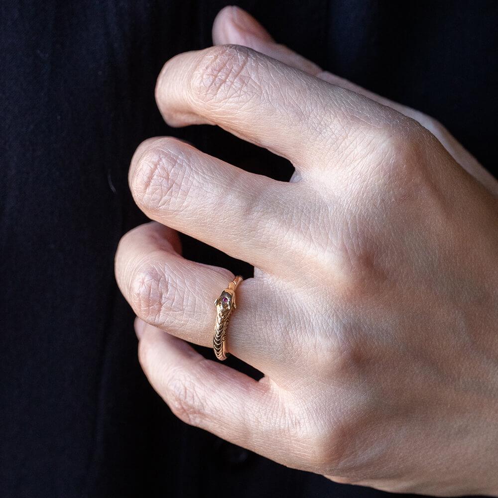 Ring Ouroboros Ioanna Liberta
