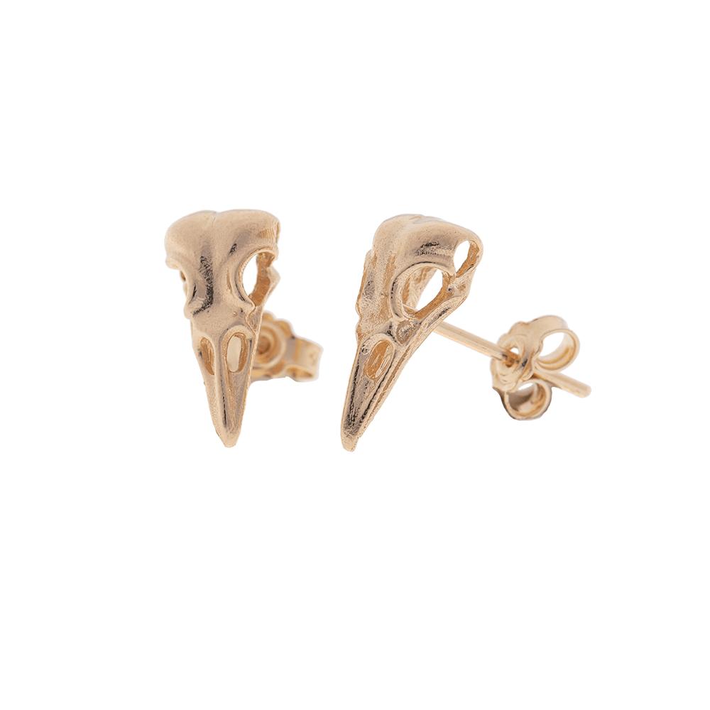 Raven skull Earrings Ioanna Liberta