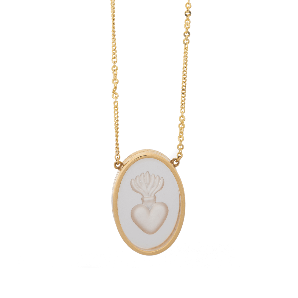 Ioanna Liberta Oval Heart Necklace