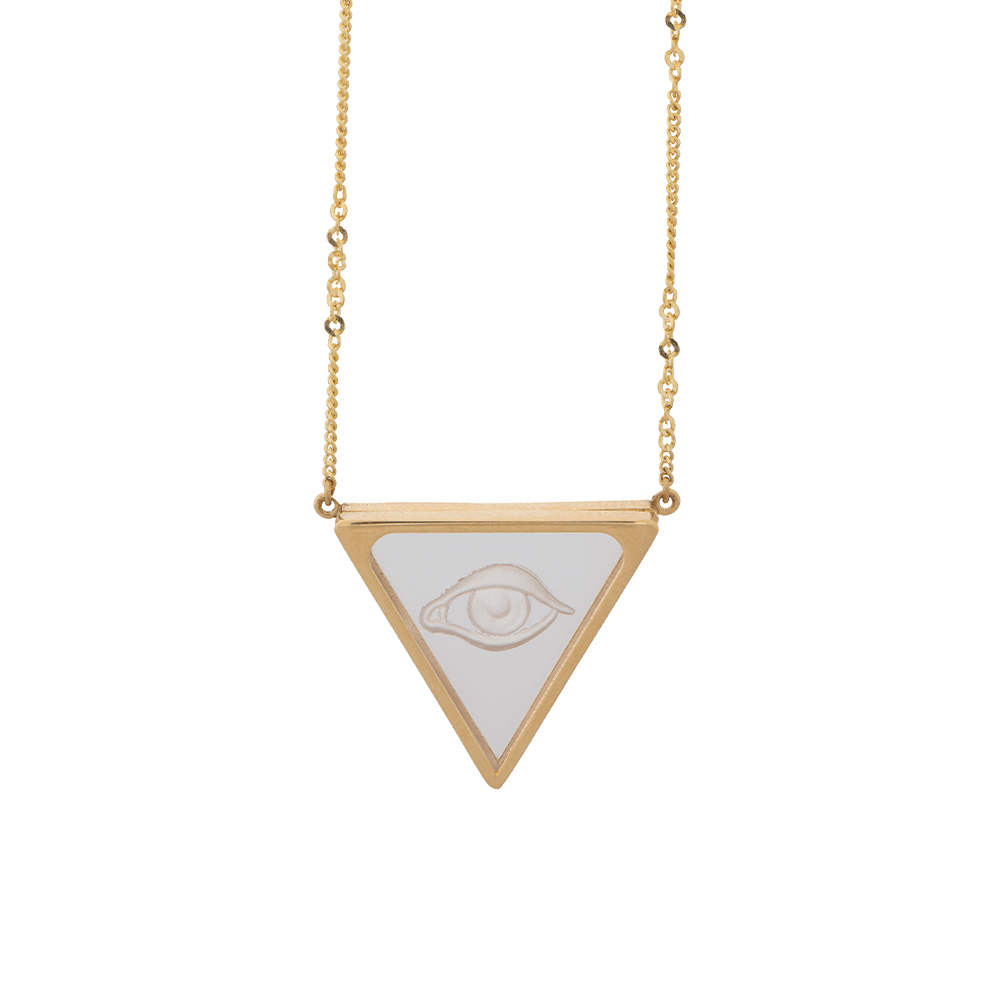 Triangle eye necklace Ioanna Liberta