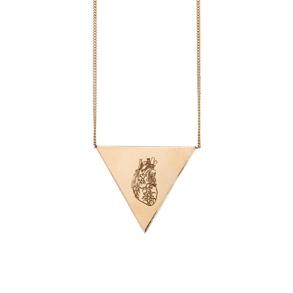 Heart Triangle Necklace Ioanna Liberta