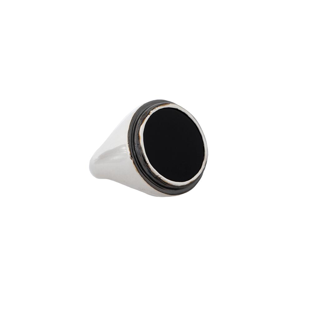 Silver Black Ring Ioanna Liberta