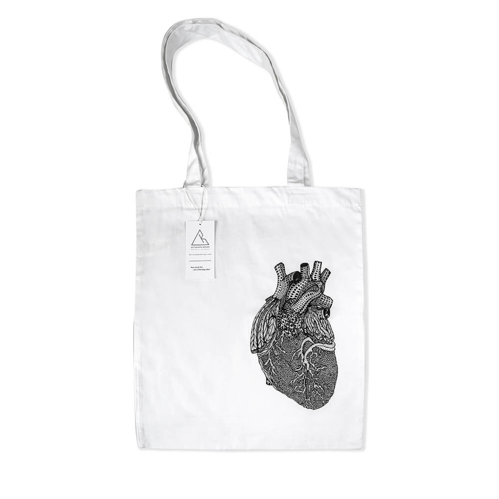 tote bag heart