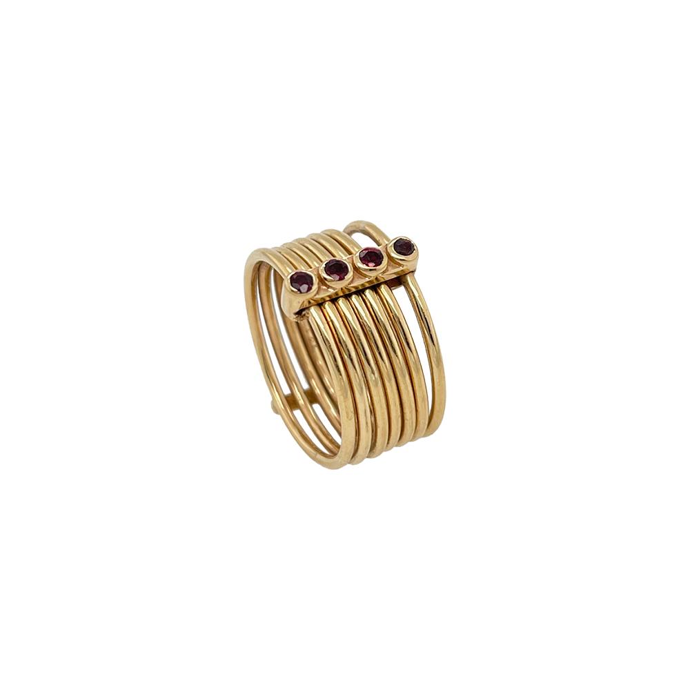 ioanna liberta 7 rings 4 rubies