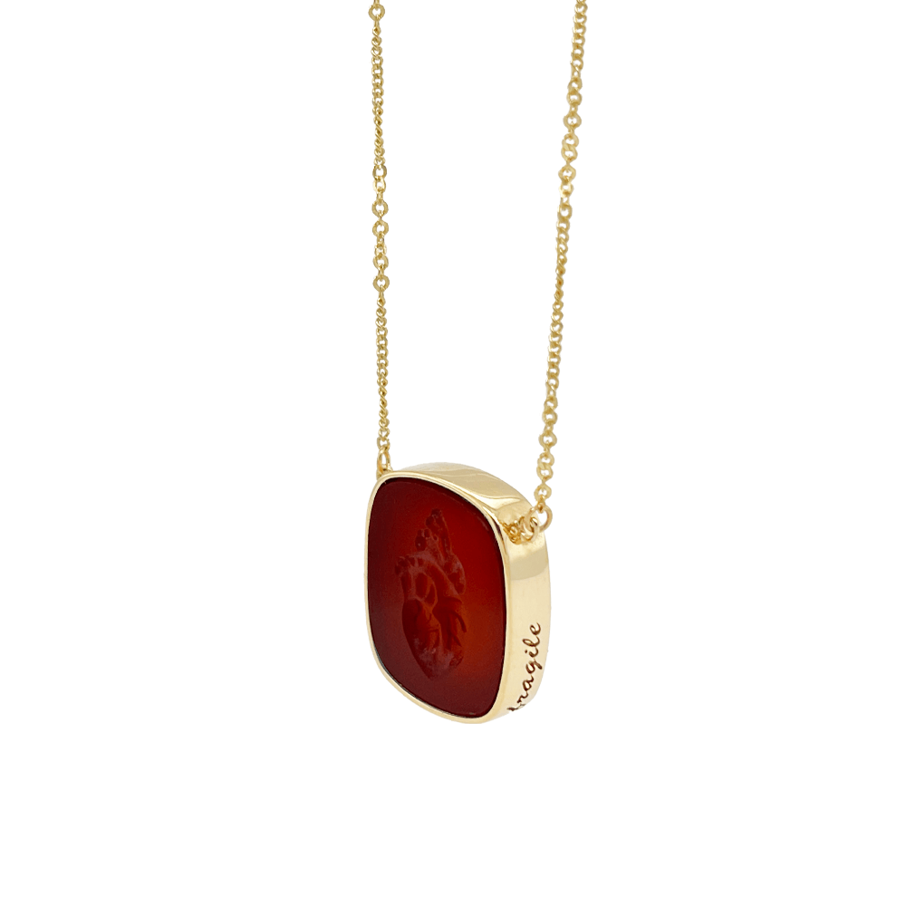 carnelian heart necklace ioanna liberta