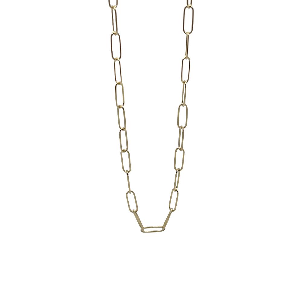 paper clip chain neckalce ioanna liberta