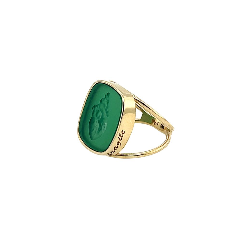 fragile green onyx heart ring ioanna liberta