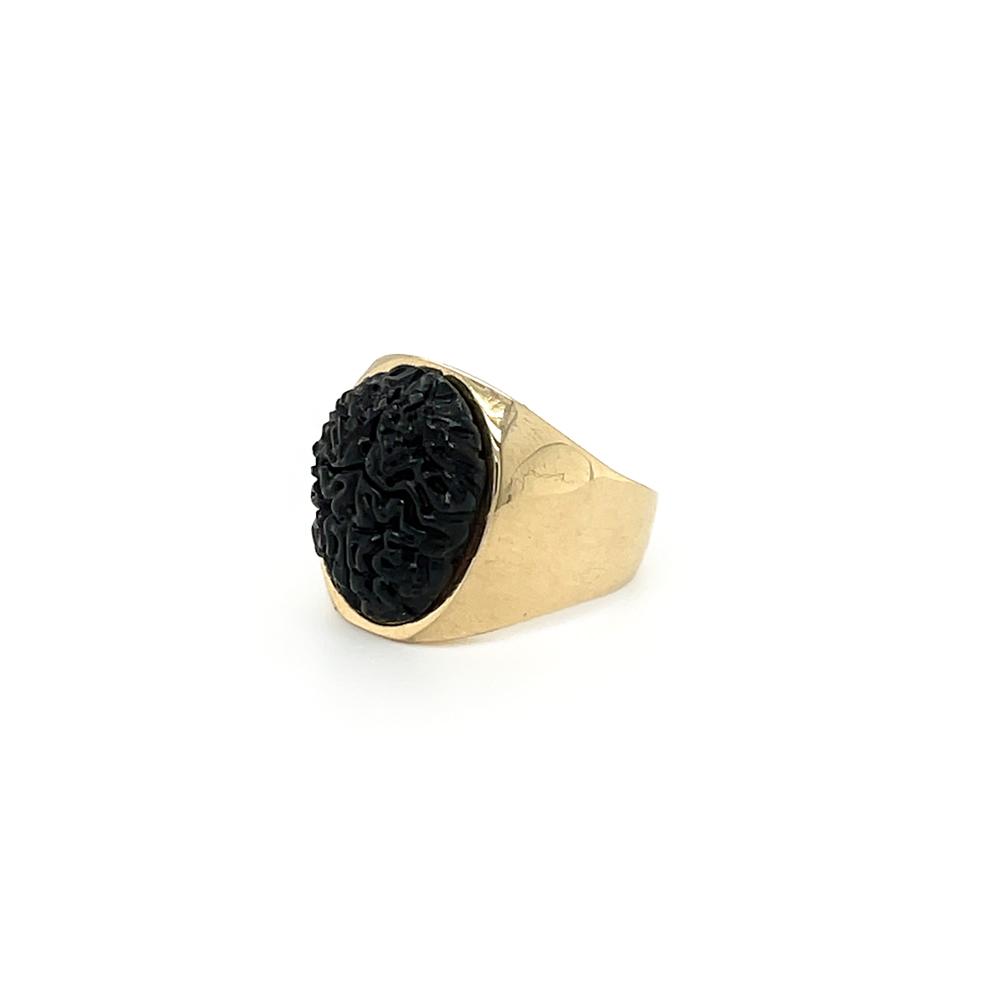 black onyx brain ring